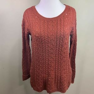 American Eagle Outfitters Womens Sweater Red Scoop